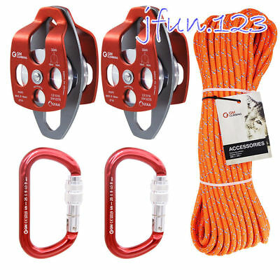Kit Block and Tackle System 32kN Pulley for Industrial Lowering Loads Lifting