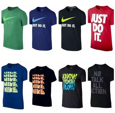 NWT NIKE BOYS / YOUTH T-SHIRT  Size: S / M / L / XL  MULTI COLOR