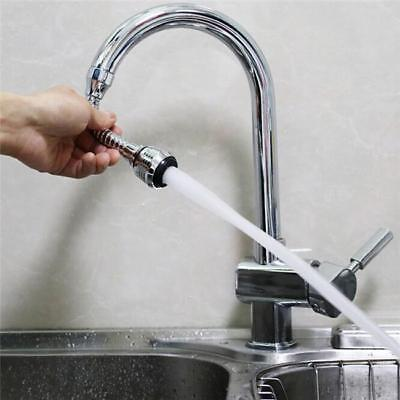 360 Degree Water Saving Swivel Tap Diffuser Faucet Nozzle Filter Adapter NEW LH