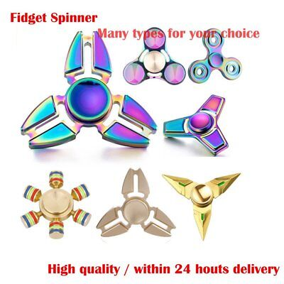 Fidget Hand Fidget Spinner Tri Spinner Finger Color Aluminum ADHD Focus Toy Hot