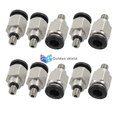 10 Pcs JPC6-M5 5mm Male Thread 6mm Push In Joint Pneumatic Connector Quick Fitti