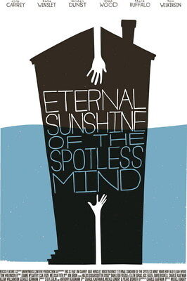 "002 Eternal Sunshine of the Spotless Mind - Jim Carrey USA Movie 24""x36"" Poster"