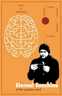 "010 Eternal Sunshine of the Spotless Mind - Jim Carrey USA Movie 24""x37"" Poster"