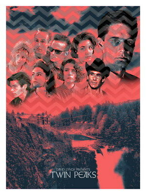 "037 Twin Peaks - Kyle MacLachlan Love Thriller USA TV Show 24""x32"" Poster"