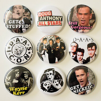 DAAS Doug Anthony All Stars Badges Buttons Pins Set Lot x 9 - 25mm