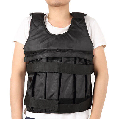 50KG Max Adjustable Exercise Fitness Weighted Vest Running Training Workout Gear