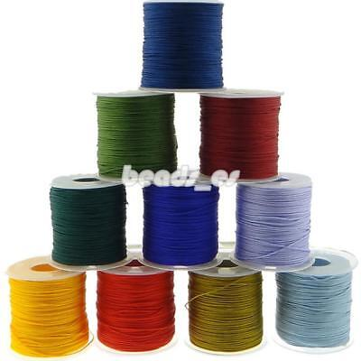 Cord Waxed Thread Wax DIY Bracelet Jewelry Linen Spool Leather Craft Sewing 1mm