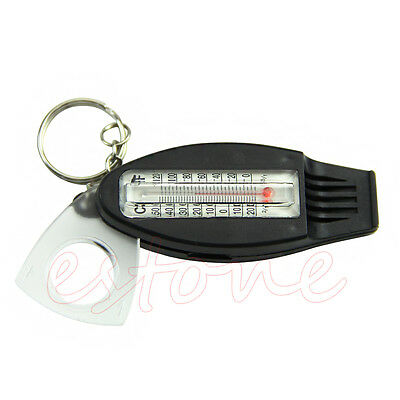 Emergency 4 in 1 Lifesaving Whistle Compass Thermometer Magnifier Survival Kits