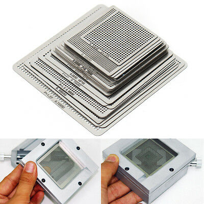 27Pcs Directly Heat BGA Reball Reballing Net Universal Stencils Template Set Kit