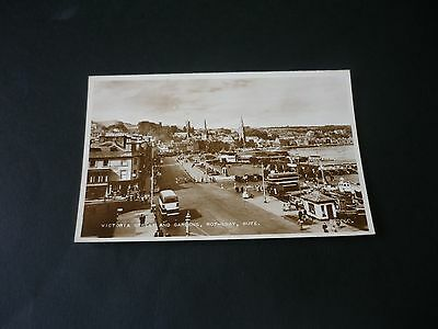 Victoria Street and Gardens, ROTHESAY, BUTE, Real Photographic postcard