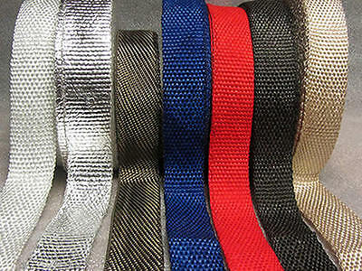 Exhaust Induction Heat Wrap BLACK WHITE TITANIUM BLUE BEIGE RED CHROME