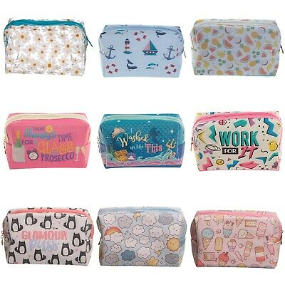 Handy PVC Travel Wash Bag - Make Up Toilette Toiletry Zip Purse