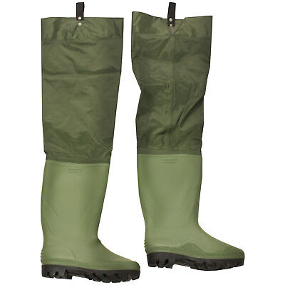 Boot Size 9 Nylon/Pvc Waterproof Hip/Thigh Waders Fly Fishing