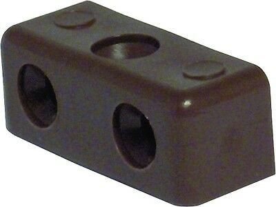 20 X Brown Modesty Block  Fixit Cabinets Cupboard Furniture Joint Connector New