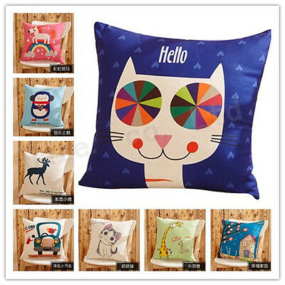 Cartoon New Sofa Office Lunch Back Automobile Waist Pillow Case Cover
