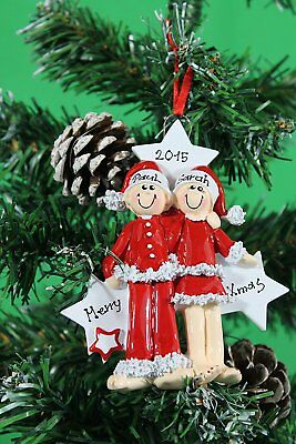 Personalised Christmas Tree Ornament Couples Xmas Decoration Xmas Perfect Gifts