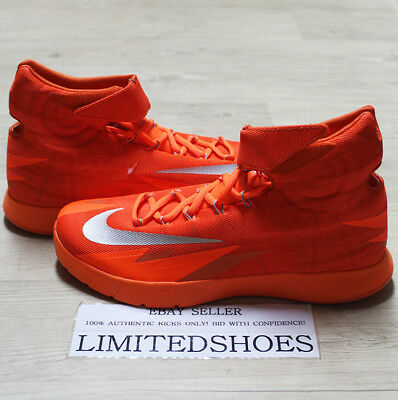 NIKE ZOOM HYPERREV ORANGE METALLIC SILVER 643301-803 US 11 SIZE Kyrie pe 3 2016