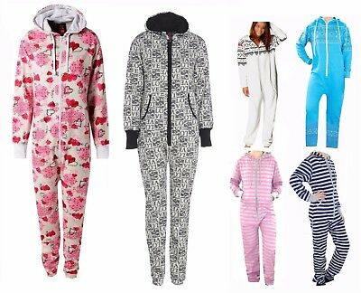 UK New Unisex Onsie Adult Pyjamas Ladies Mens Sleepwear All In One Dress 8-22