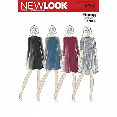 NEW LOOK LADIES Easy Sewing Pattern 6469 Jersey Knit Dresses ...
