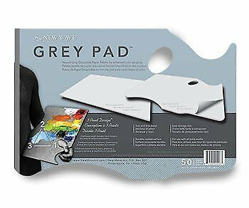 Gray Pad Disposable Palette Hand Held-
