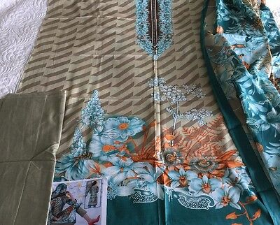 Pakistani designer Taj LAWN COLLECTION UN-STITCHED SHALWAR KAMEEZ SUIT Asian