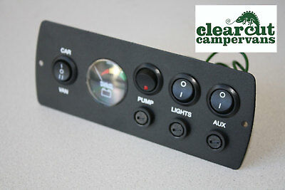 Campervan CP3 Power Management Control Panel with 12v Battery Condition Monitor