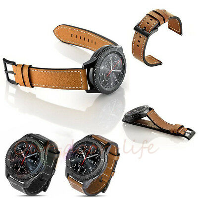 New Luxury Leather Crocodile Strap Band For Samsung Gear S3 Frontier 22mm UK