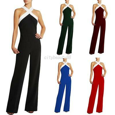 US Women Clubwear Summer Sleeveless Playsuit Bodycon Jumpsuit Romper Trousers