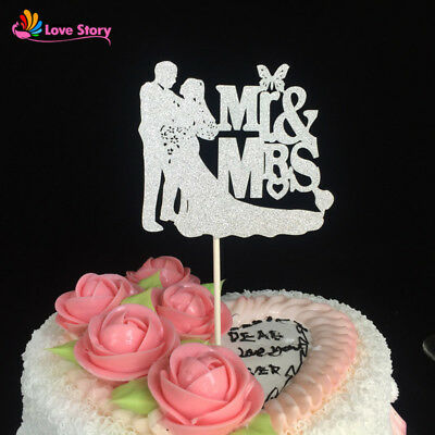 Mr & Mrs WEDDING Cake Topper Decoration GOLD / SILVER ENGAGEMENT anniversary
