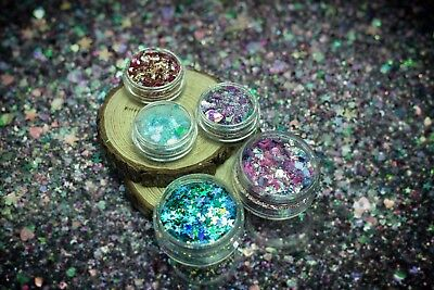 Chunky Festival Glitter Mixes in Large 5g Pots Face Eye Tattoo Clubbing Dance