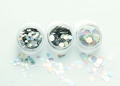 Super Chunky Hexagon Glitter-Face Eye Body Nail Festival Cosmetic Dance Club MUA