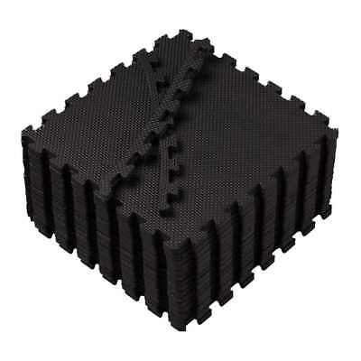 Black Eva Interlocking Portable Foam Mats Tiles Gym Flooring Garage Floor Mat