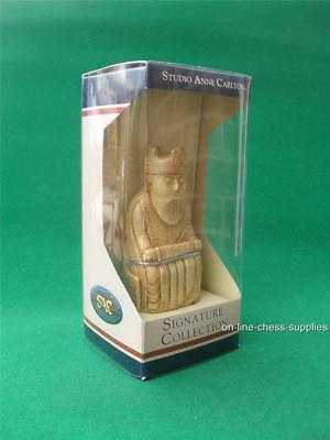 Studio Anne Carlton Isle of Lewis White King Chess Piece in Presentation Box