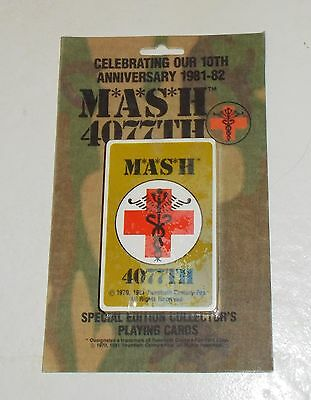 Mash 4077Th 10Th Anniv 1981-'82 Spec Ed Playing Cards Sealed Red Cross Cover Vtg