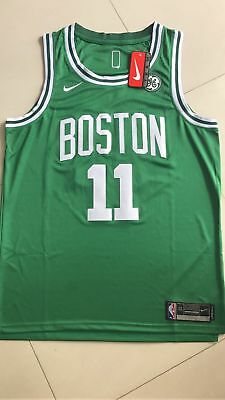 NWT New Boston Celtics Kyrie Irving 11 GREEN Stitched Swingman Throwback Jersey