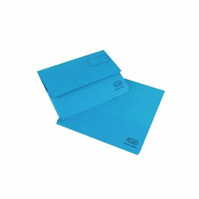 Elba Strongline Foolscap Blue Document Wallet Pack of 25 100090140 [BX03221]