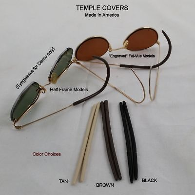 """NEW"" Dermasol Antique Wire Frame Eyeglass Temple covers - 1.6 mm ID"