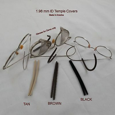 """New"" Silicone Temple Covers for Antique wire frame glasses - 1.98 mm ID"