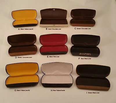 Antique Eyeglass Cases / Refurbished with new Lambskin Liners