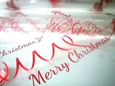 Christmas Cellophane Hamper Gift Wrap Folded + Free Bow Or Ribbon All Occasions