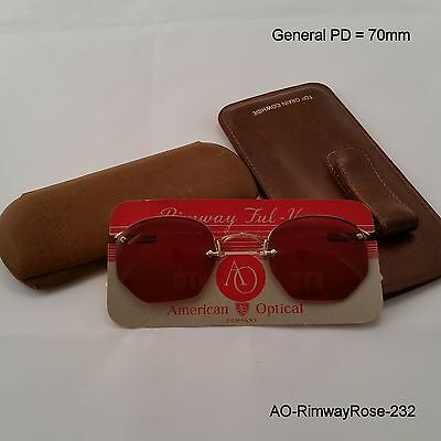 American Optical Rimway Crossley True NOS Antique Sunshades & 2 Cases.