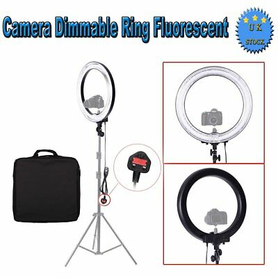 "18"" 600W 5500K Dimmable Ring Fluorescent Flash Light for Camera Photo Video UK"