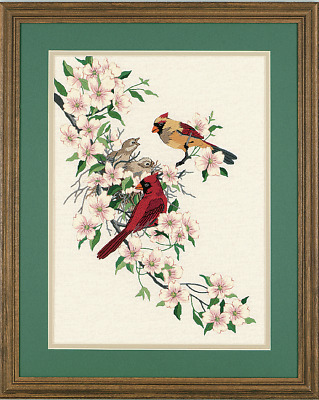 Dimensions - Crewel Embroidery Kit - Cardinals in Dogwood - D01516