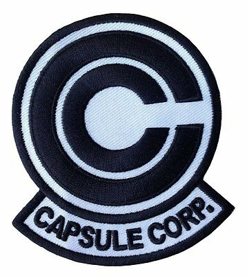 Dragon Ball Z Capsule Corp Patch 8,9cm x 7,6cm Iron on /Sew on backing