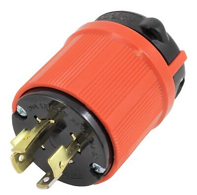 AC WORKS [ASL1420P] NEMA L14-20P 20Amp 125/250Volt 4Prong Locking Male Plug UL