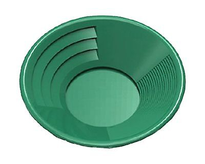 "SE GP1014G14 14"" Green Plastic Gold Pan with Two Types of Riffles 14 inches"