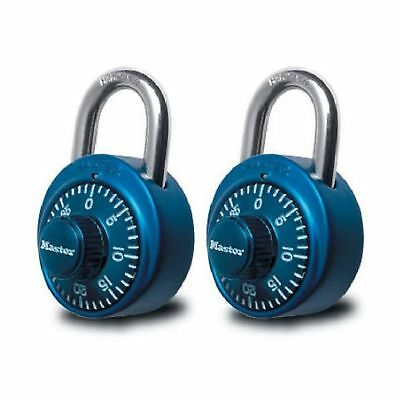 Master Lock 1530T Combination Padlock Bright Metallic Each pack contains 2 un...