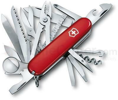 Victorinox Swiss Army Knife Red 56501 Swiss Champ  33 Functions New In Package