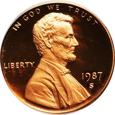 1987-S Proof Lincoln Memorial Cent Penny Deep Cameo , FREE SHIPPING!