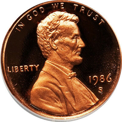 1986-S Proof Lincoln Memorial Cent Penny Deep Cameo , FREE SHIPPING!